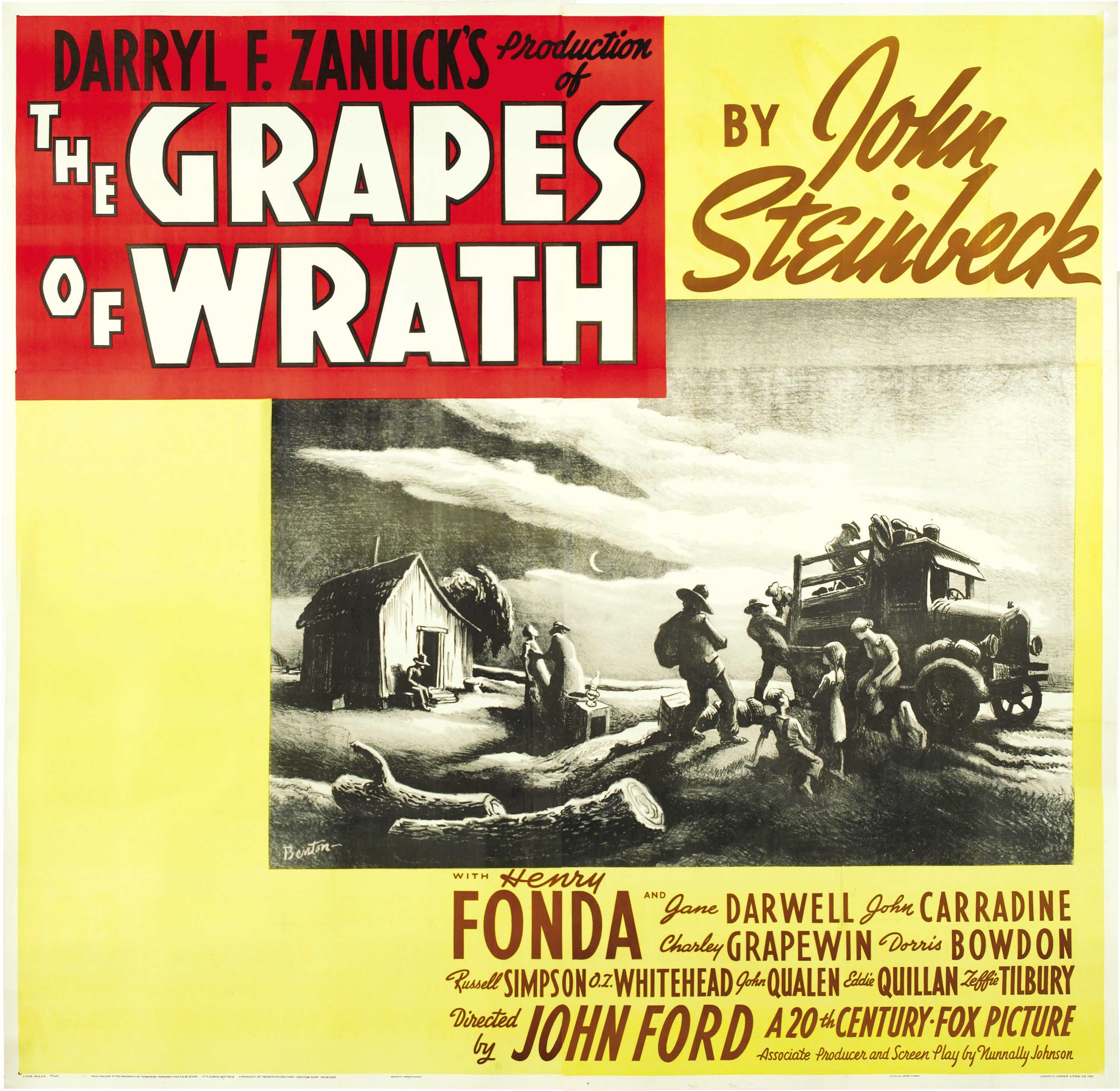 grapes of wrath movie essay questions
